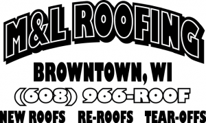 m&l roofing logo